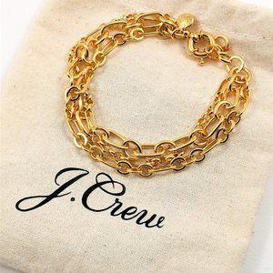 NEW J Crew mixed-chain bracelet